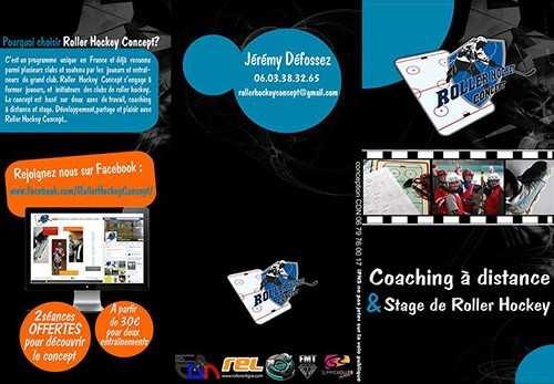 roller hockey concept plaquette