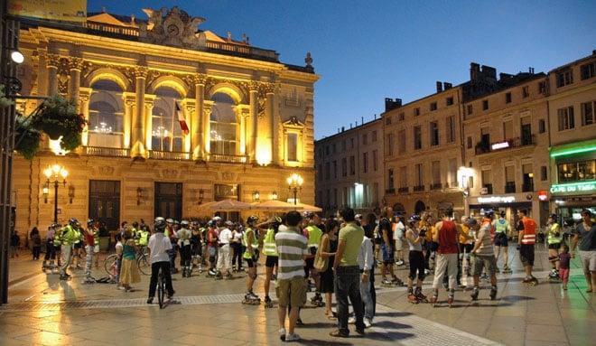 Randonnée roller du vendredi soir à Montpellier