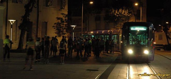 Roller et Tramway à Montpellier