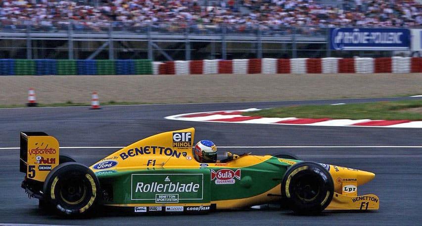 Formule 1 Benetton Ford avec Rollerblade comme sponsor