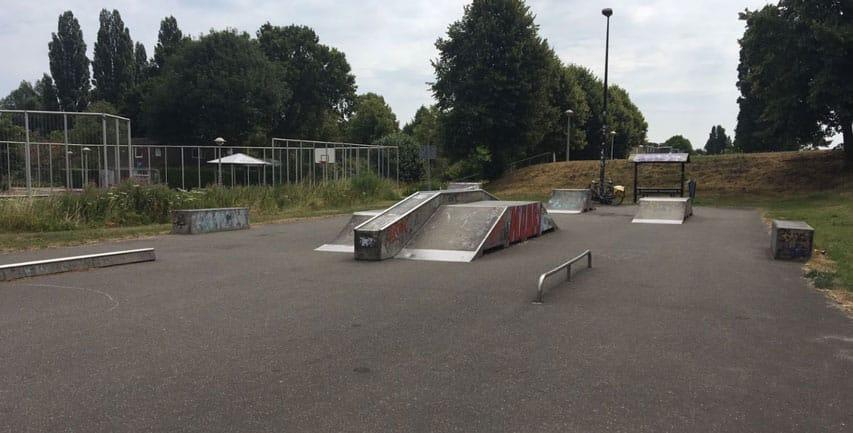Skatepark d'Amstel à Amsterdam (Pays-Bas)