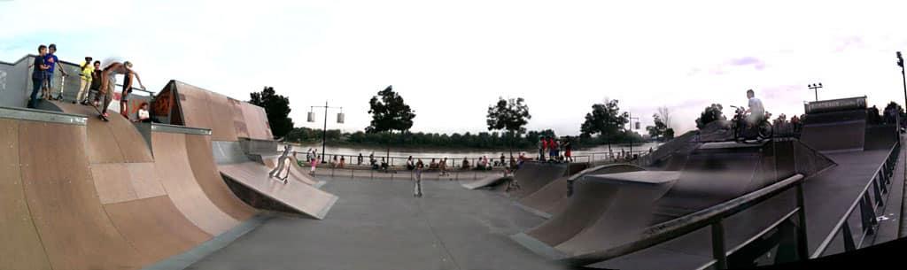 Le skatepark du quai des Chartrons à Bordeaux (33)
