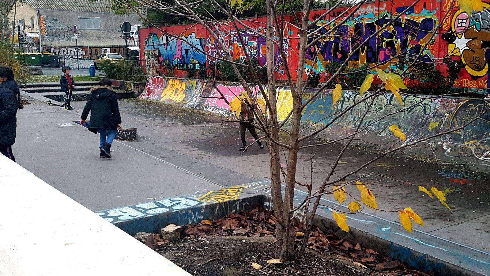 Le skatepark mini rampe de Pantin