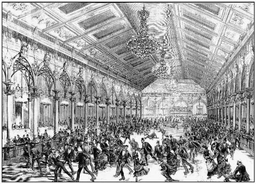 Skating-Rink de la Chaussée d'Antin - L'Illustration, 23 décembre 1876