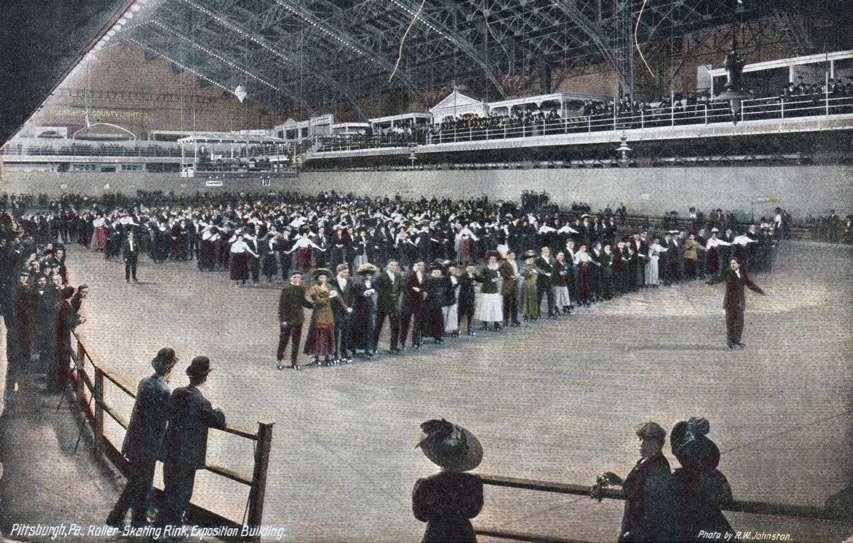 Skating rink de Pittsburg en 1909