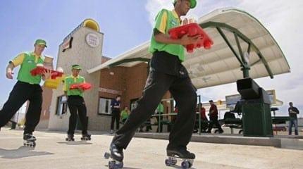 sonic roller skaters waiters