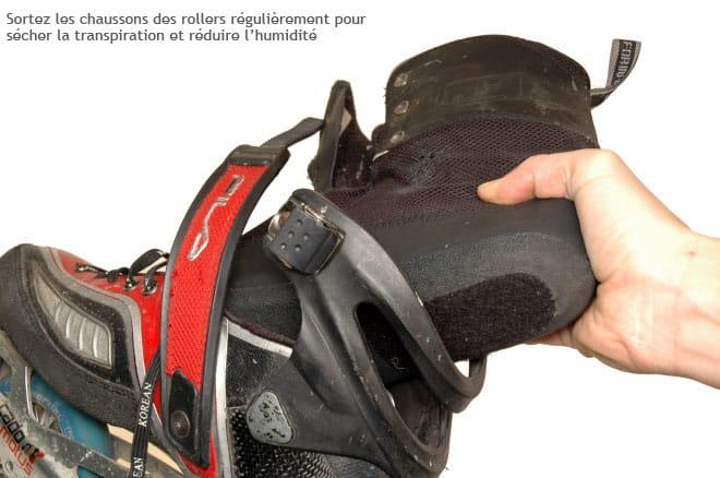 Entretien des chaussures et des chaussons de roller