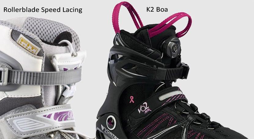Speed lace Rollerblade et K2 Boa