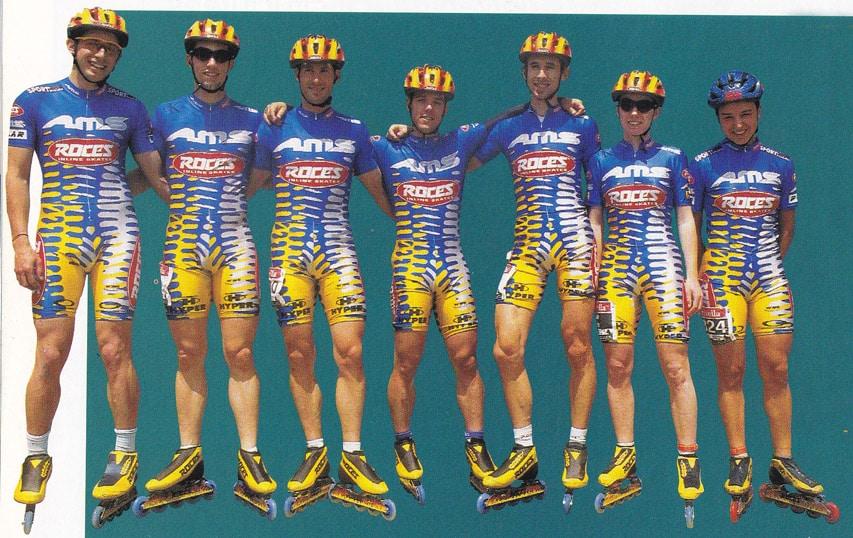 Team Roces 1998 (Photo : Roller Saga)