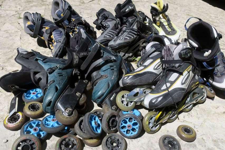 Collecte de roller usagés avec Travel by Blades