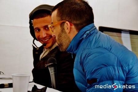 Reyda Messaoudi et Yann Guyader au micro