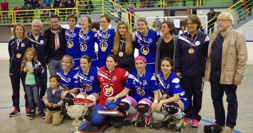 L'US Coutras Dames, championne de france de rink hockey 2016