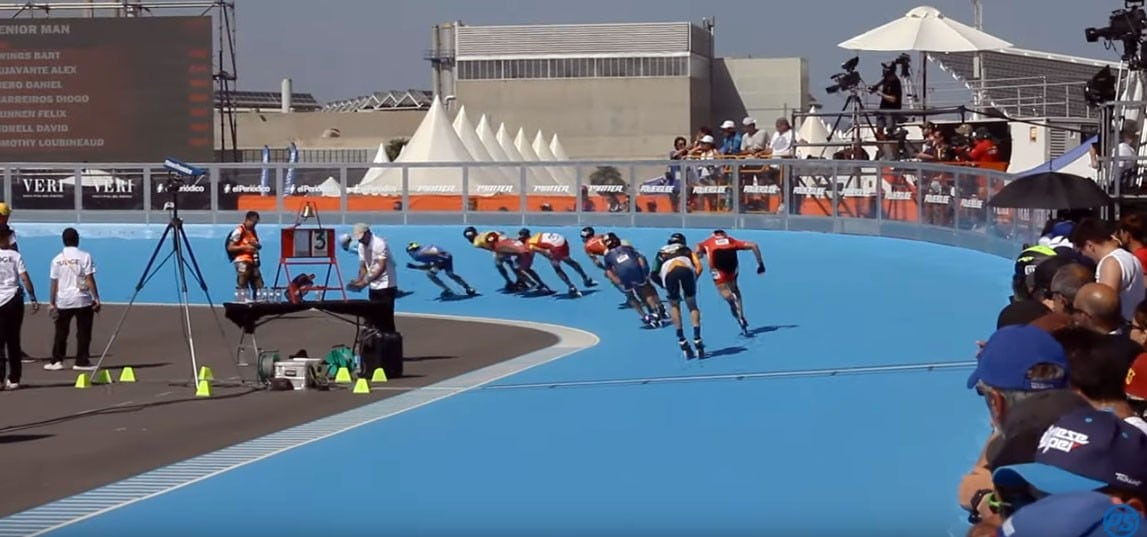 video 10km points eliminations world roller games 2019