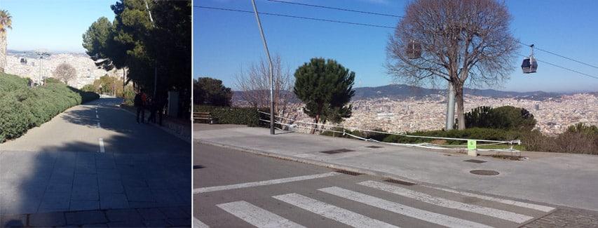 Le spot de la descente à Montjuic