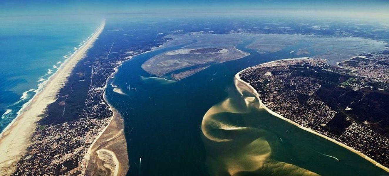 vue aerienne bassin arcachon