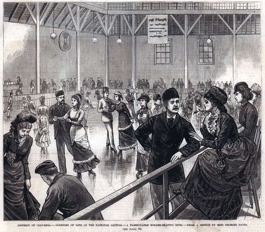 Le Skating rink Columbia de Washington DC en 1880