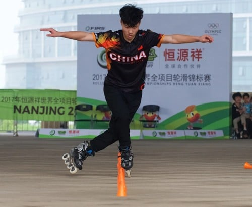 zhang hao world roller games 2017